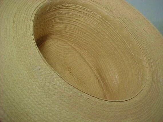Vintage Straw Hat, Wide Brim Hat, Summer Hat, Fes… - image 6