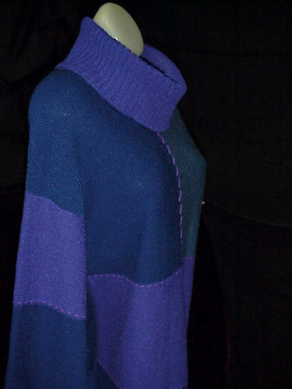 Mod Knit Dress-Cobalt Sweater Dress-Color Block Kn