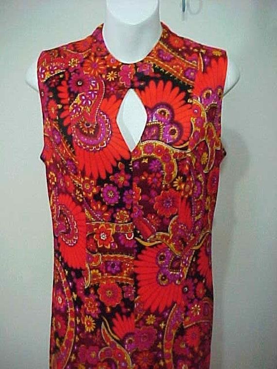 Vintage 60's Dress, Maxi Dress,  Mod Boho Hippie D