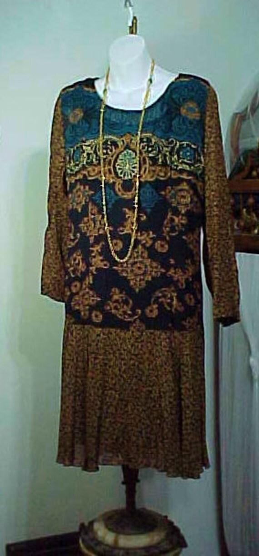 Vintage Boho Flapper Dress, Carole Little Bohemia… - image 2