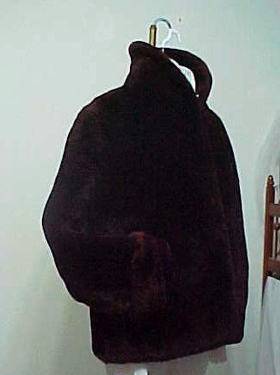 Vintage Fur Jacket 1920's Mouton Sheep Fur Shrug J