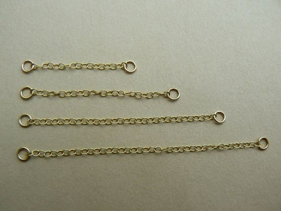 """9ct Yellow Gold 1/"""" Safety Extension Chain for Necklace Extender w//Lobster Clasp"""