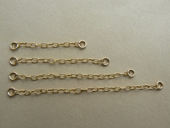 "Strong 9ct Gold Heavy Safety// Extender Chain1/"" for Necklace-Bracelet 2.5mm Thick"