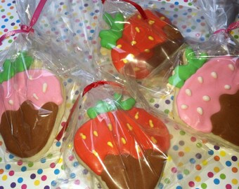Strawberry Cookie Favors (2 Dozen)
