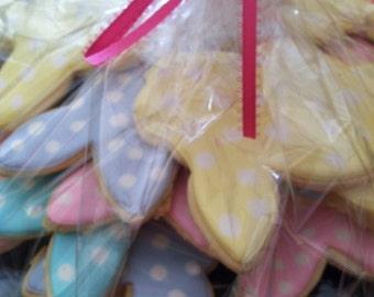Pastel Polka Dot Easter Bunny Cookies (2 Dozen)