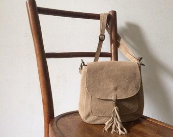 Sac bandoulière cuir beige,sac à main noir,sac bohème en daim,sac besace  cuir,sac à main,evening leather bag, boho bag,brown bag 0822fd8b6f1