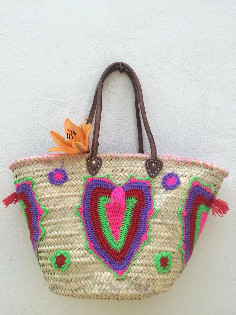 9eeb9cc0831b6 Wiklina koszyk słoma Tote Bag torba na plażę torebki ze | Etsy