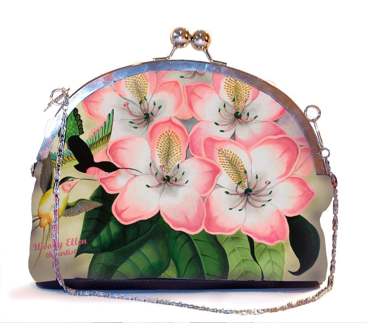 Retro clip purse, Idda, pink clutch bag, wedding clutch pistache ...