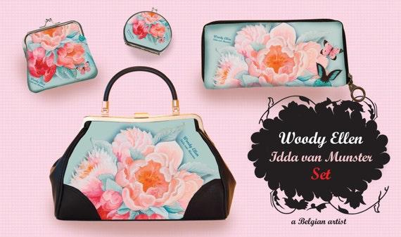 Retro handbag set of 4, Vintage handbag, Idda, gift for her, gift mom, Woody Ellen handbag, christmas gift, valentine gift ideas,bridal gift