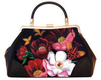 Retro handtas, vintage handtas, Glorious, kerstcadeau, valentijn geschenk, verjaardagsgeschenk, geschenk moeder, Woody Ellen handtas