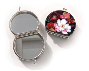 Make-up spiegel, Glorious, kerstcadeau, kerstgeschenk, valentijn, verjaardagscadeau, geschenk mama, cadeau haar, cadeau bloem, Woody Ellen