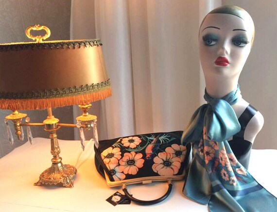 Handbag + Silk Scarf, 100% silk scarf,Sweet Swallow bag,christmas,gift for her,gift for mom,Woody Ellen,christmas gifts,christmas gift ideas