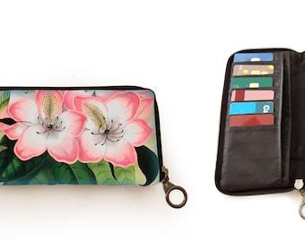 Portefeuille, Libre, kerstcadeau, valentijngeschenk, verjaardagsgeschenk, geschenk moeder, Woody Ellen bag, geschenk mama, kolibri, hibiscus