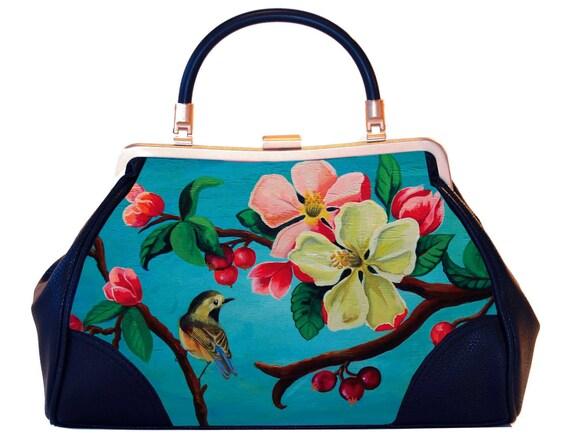 Retro handbag, Vintage handbag, Blossom, christmas gifts, gift for her, gift mom, Woody Ellen handbag, Pinup fashion, christmas gift ideas