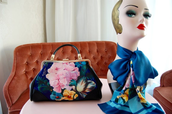 Handbag + Silk Scarf, 100% silk scarf,Eden bag,christmas,gift for her,gift for mom,Woody Ellen,christmas gifts,christmas gift ideas