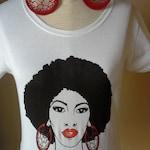 Natura Hair T Shirt/Earring Set