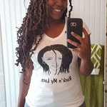 Locs V Neck Fitted T Shirt