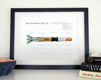 Doctor Who - 11th Doctor Sonic Screwdriver Print