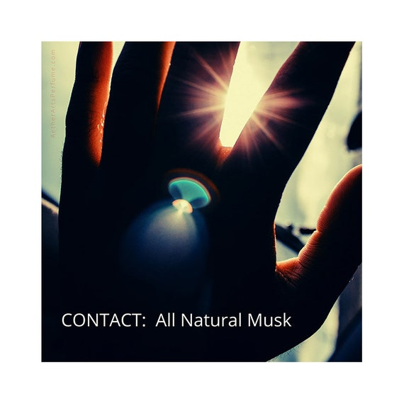 CONTACT: a unisex, All Natural Musk Perfume, 100% Natural, no synthetic notes, Rich, and Sublte, Long-lasting, No.2 in the Pandemic Trilogy