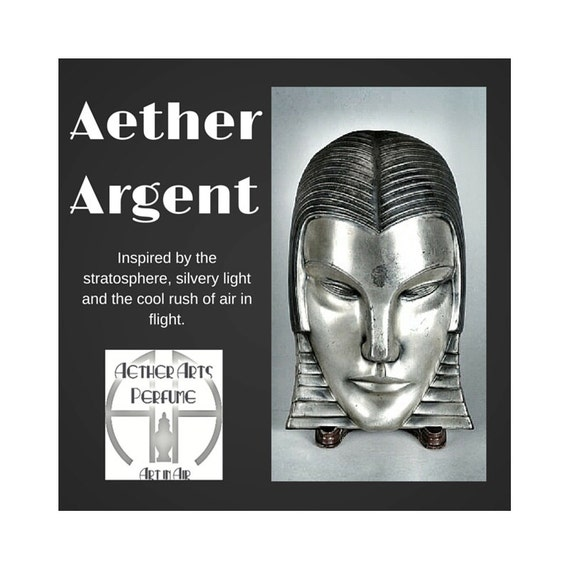 Aether Argent Perfume Oil, A Sheer, Unisex, Coolly Confident Eau-de-Parfum, a subtle Ozone/Marine Fragrance featuring Mint, Musk & Cedar