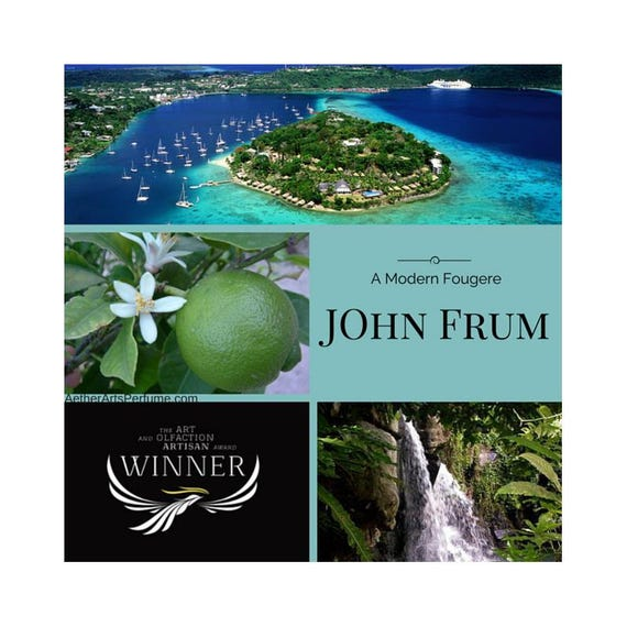 Burner Perfume No. 4 John Frum, a Tropical Perfume featuring Vanuatu Pepper, inspiredby a Cargo Cult, a Modern, Tropical, Fougere, Perfume