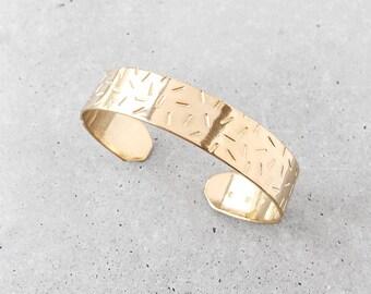 Confetti Cuff Bracelet / 14k gold plated brass / donut sprinkles / memphis pattern bangle