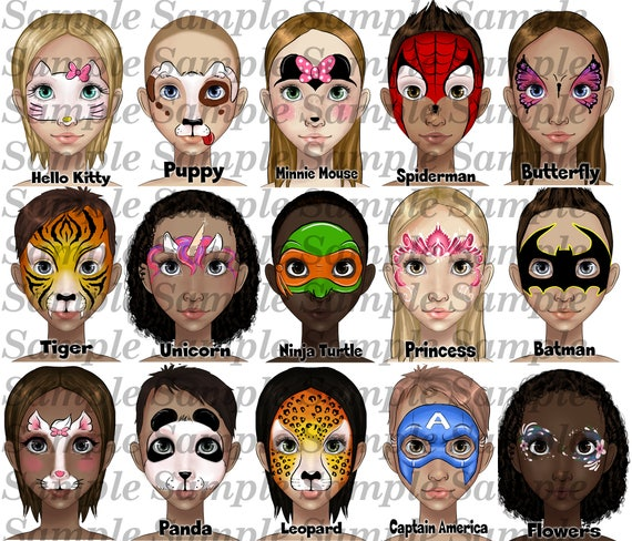 Face Paint Menu Board Faces And Designs By Stephanie Saladino Etsy