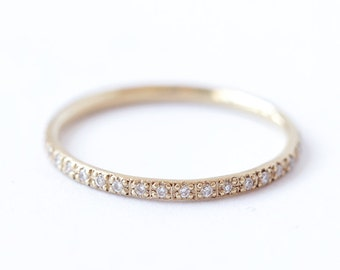 Diamond Eternity Band, Eternity Wedding Band, Thin Diamond Ring, Thin Diamond Eternity Band, Skinny Eternity Ring, Diamond Wedding Ring