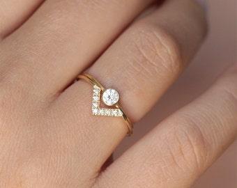 Simple Wedding Sets | Simple Wedding Rings Etsy