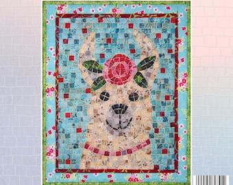 LLama Mini Mosaic Quilt Pattern
