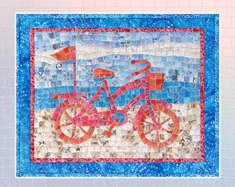 Beach Bike Mini Mosaic Quilt Pattern