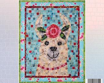 Llama Mini Mosaic Quilt Kit
