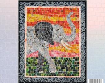Elephant Mini Mosaic Quilt Kit