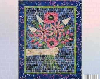 Bouquet Mini Mosaic Quilt Pattern
