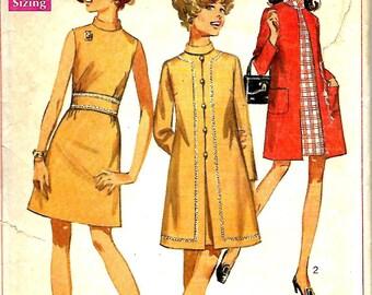 Simplicity 7999 Junior Petite A-line Coat And Dress Pattern, Size 7JP, Bust 32, UNCUT