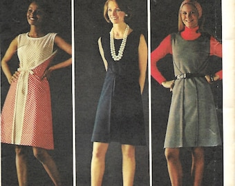 1970's Butterick 3221 Wrap-And-Go Dress Pattern, Size 14, Bust 36, UNCUT