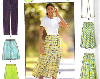 Simplicity 7655 6 Made easy Pants, Cropped Pants, Shorts & Skirt Pattern, Misses L-XL, UNCUT