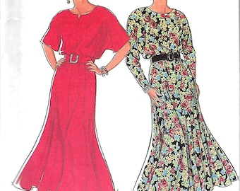 Style 2350 Misses Paneled And Flared Dress Pattern, Size 18-28, UNCUT