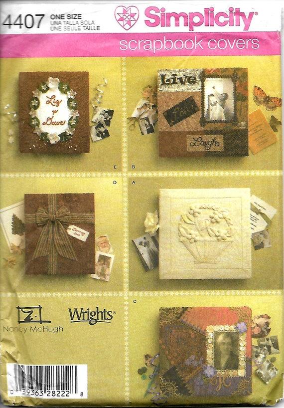 Simplicity 4407 Scrapbook Covers Craft Pattern Uncut Etsy