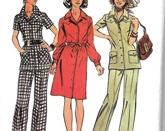 Simplicity 5735 Misses Half Size Dress Or Tunic And Pants Pattern, Size 18 1/2, Bust 41, UNCUT