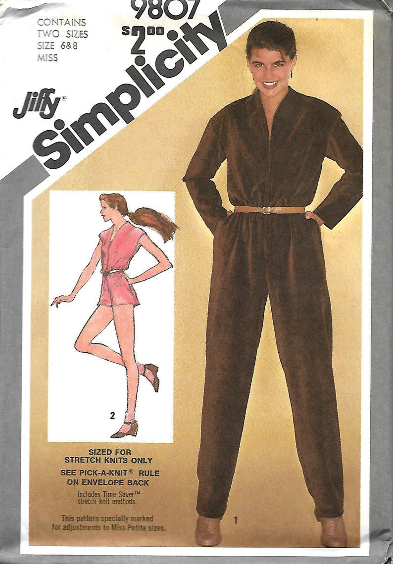 257bccea2dc Simplicity 9807 Misses Jiffy Jumpsuit In Two Lengths Sewing