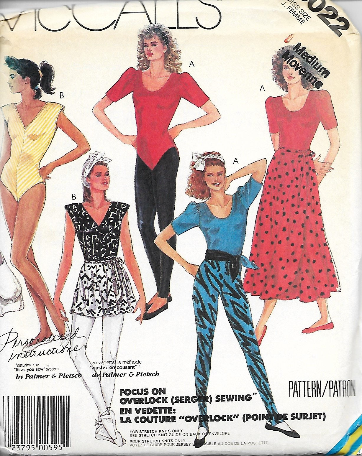 mccall s 3022 misses leotards skirt pants and sash etsy New York Female Fashion 50
