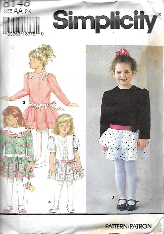 Simplicity 8148 Tween Girls/' Dresses 8 to 16     Sewing Pattern