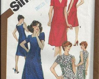 Misses Half Size Slim-Fitting  Dress Pattern, Simplicity 9900, Size 22 1/2 UNCUT