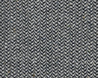 Over 2 Yds Speckled Gray Herringbone Wool Fabric