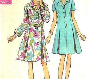 VTG Simplicity 8659 Misses Half Size Shirt Dress Pattern, Size 16 1/2, But 39