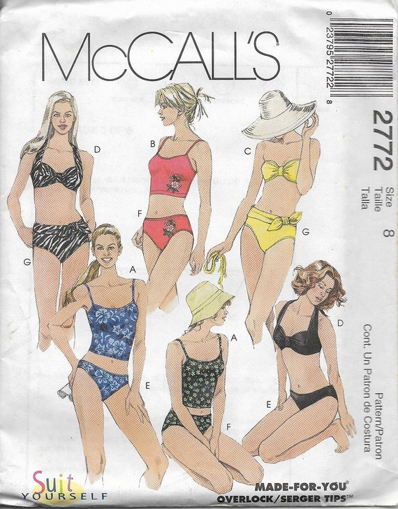 McCall\'s 2772 Misses Two Piece Swimsuit Sewing Pattern | Etsy
