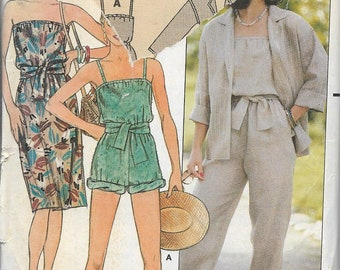 Butterick 6553 Misses Jacket, Strapless Dress And Long Or Short Jumpsuit Sewing Pattern, Size 8-12, UNCUT