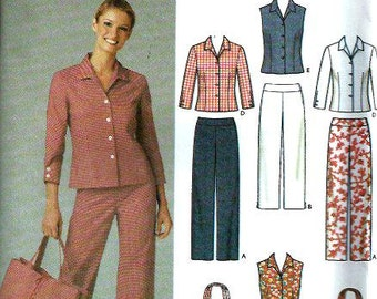 Easy Simplicity 5204 Misses Pants, Cropped Pants, Skirt, Shirt & Bag Pattern, Size 6-12  And 14-22, UNCUT