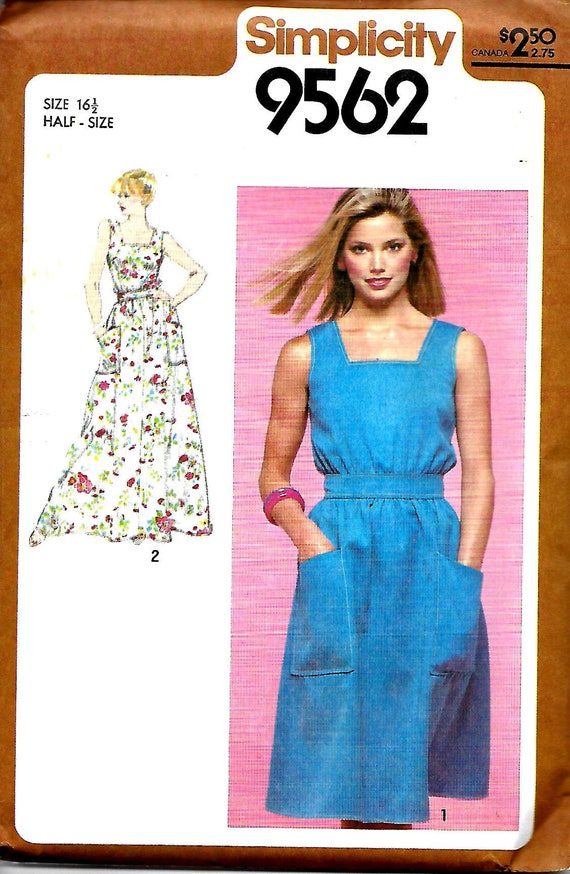 VTG Simplicity 40 Misses Sundress Pattern Two Lengths Half Etsy Extraordinary Sundress Patterns Simplicity